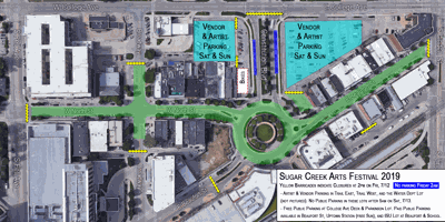 Sugar Creek Arts Fest street closures