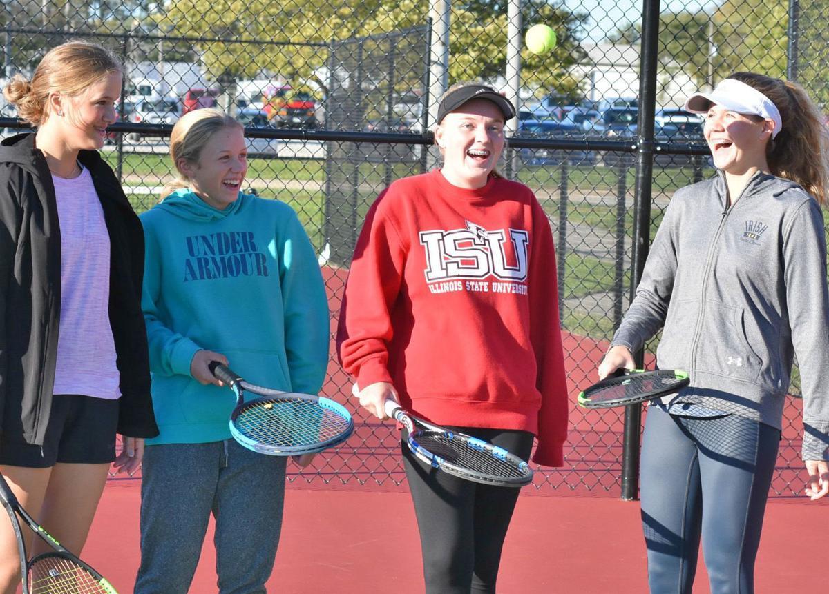 U High tennis foursome photo