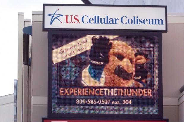 U.S. Cellular Coliseum Thunder advertisement
