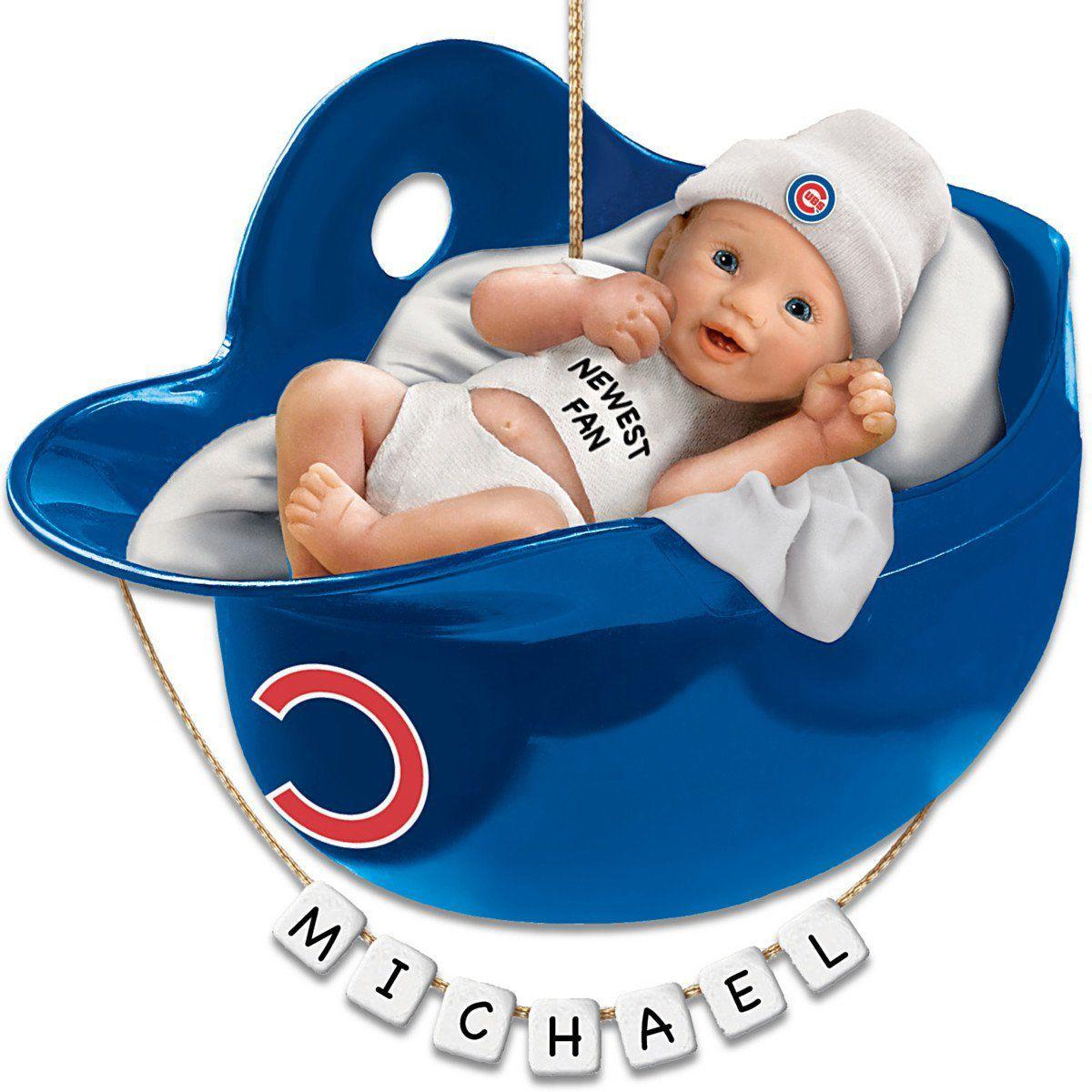 15 great gifts for the cubs fan in your life lifestyles cubs personalized babys first christmas ornament negle Gallery