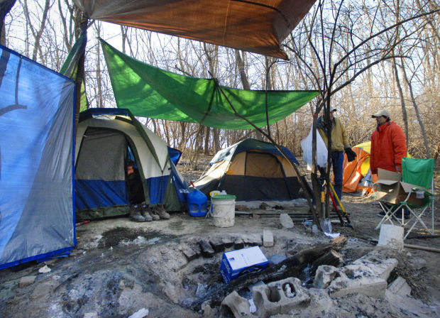 Out in the cold PATH reaches out to homeless living in tents : homeless living in a tent - memphite.com