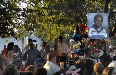 250 people mourn the death of boy killed in bike-semi