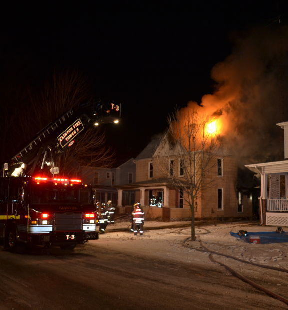 Thursday night house fire in Clinton