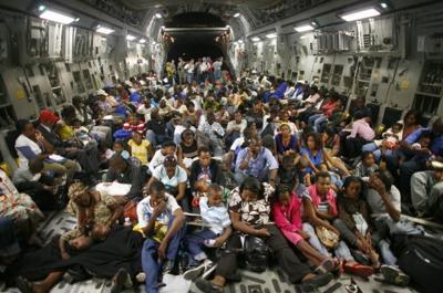 Haiti evacuees