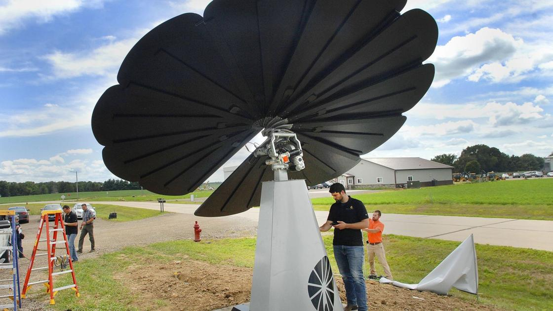 Here comes the sun: Solar-powered 'flower' catches eyes, rays in Goodfield