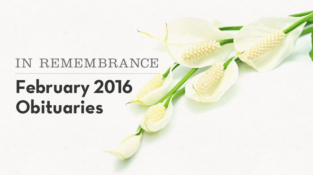 In remembrance: Pantagraph area obituaries in February ...