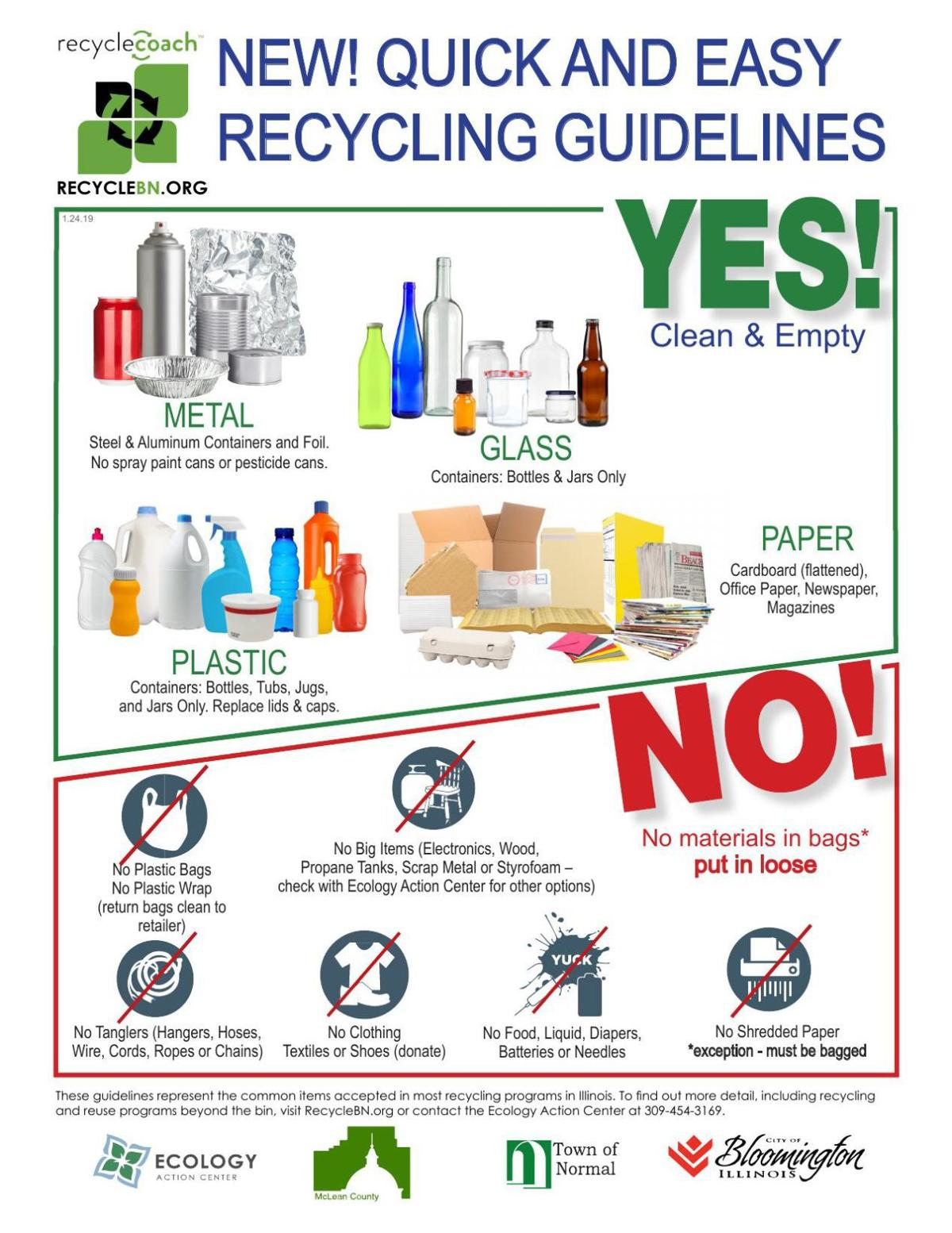 Recycling guidelines flyer
