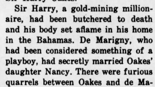 Harry Oakes murder