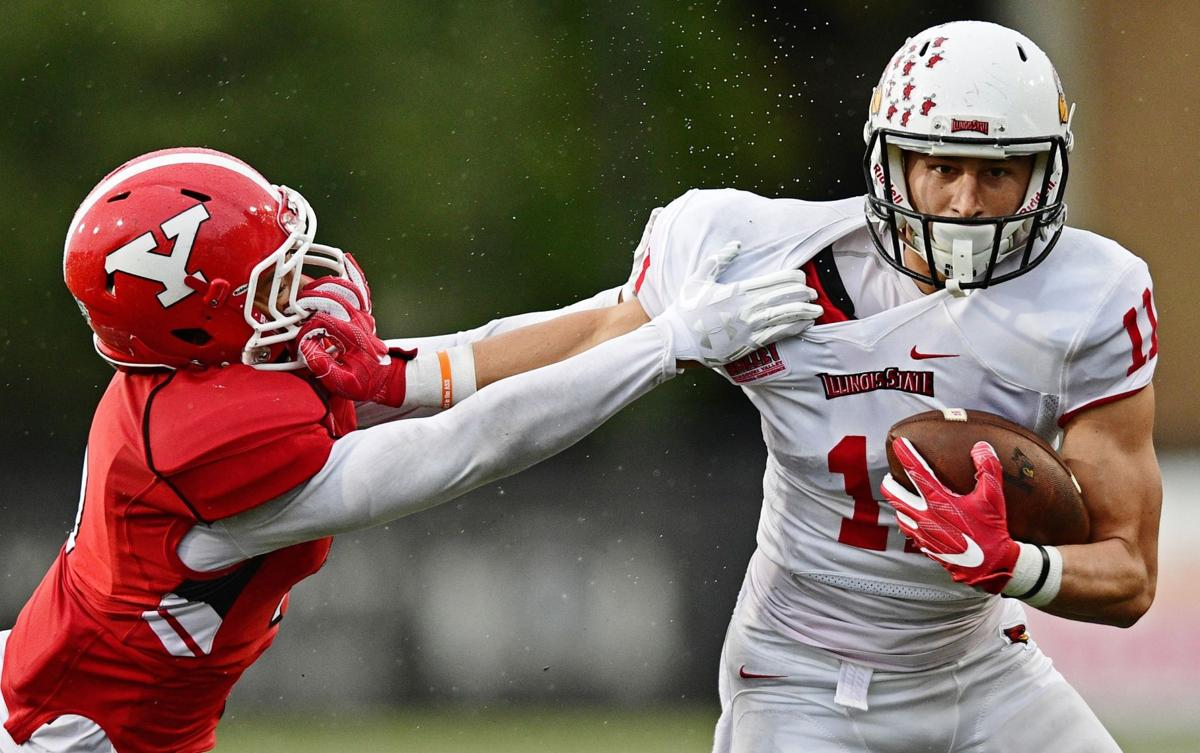 Spencer Schnell stiff arm vs. Youngstown State