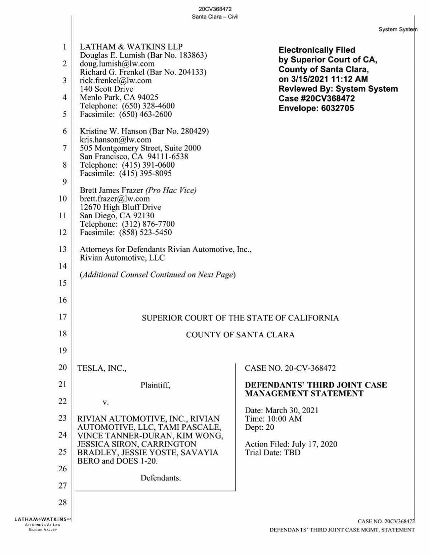 Rivian lawsuit