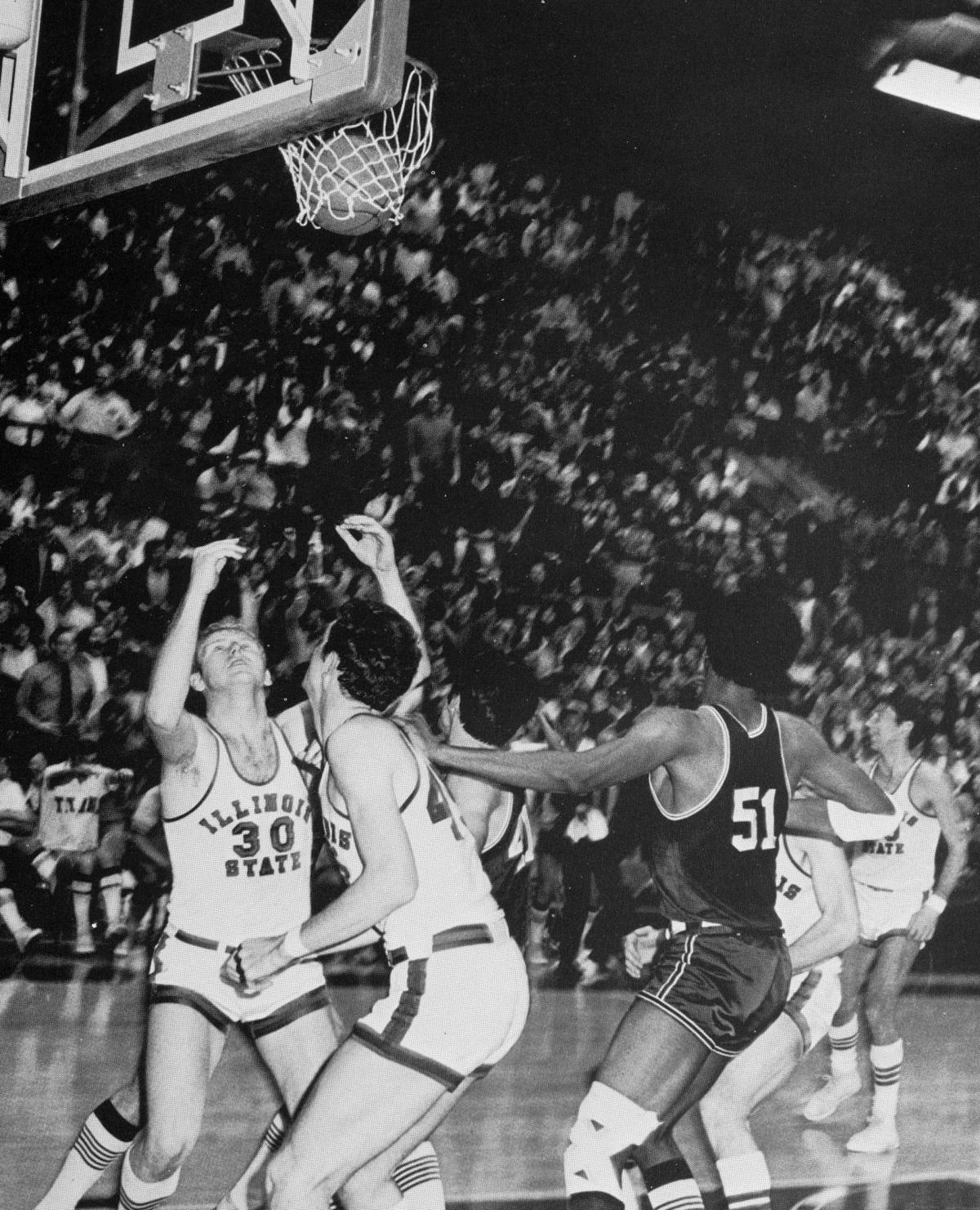 Winning shot from last ISU-IWU basketball game in 1970