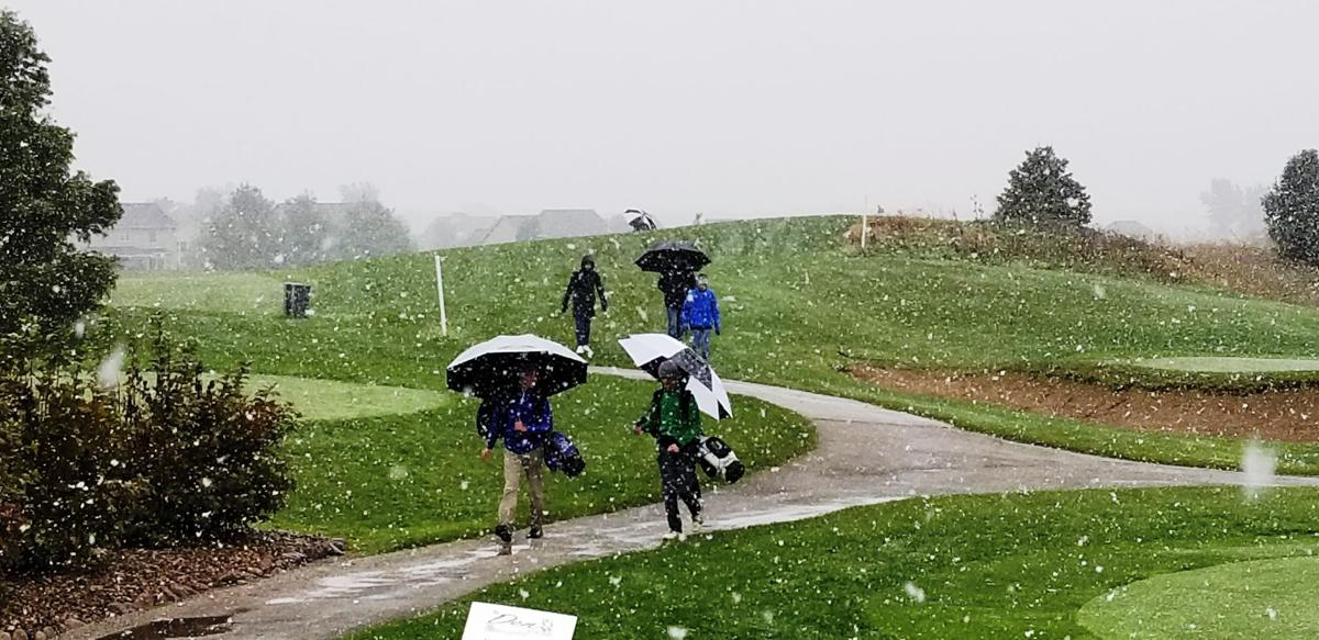 Boys state golf suspended by snow