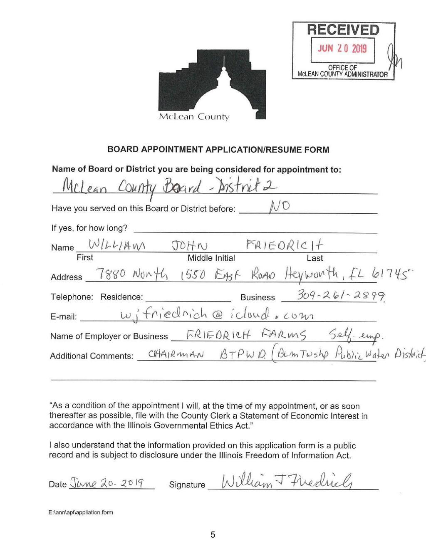Five seek McLean County Board seat
