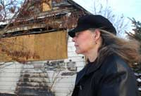 Fire victim promotes home safety