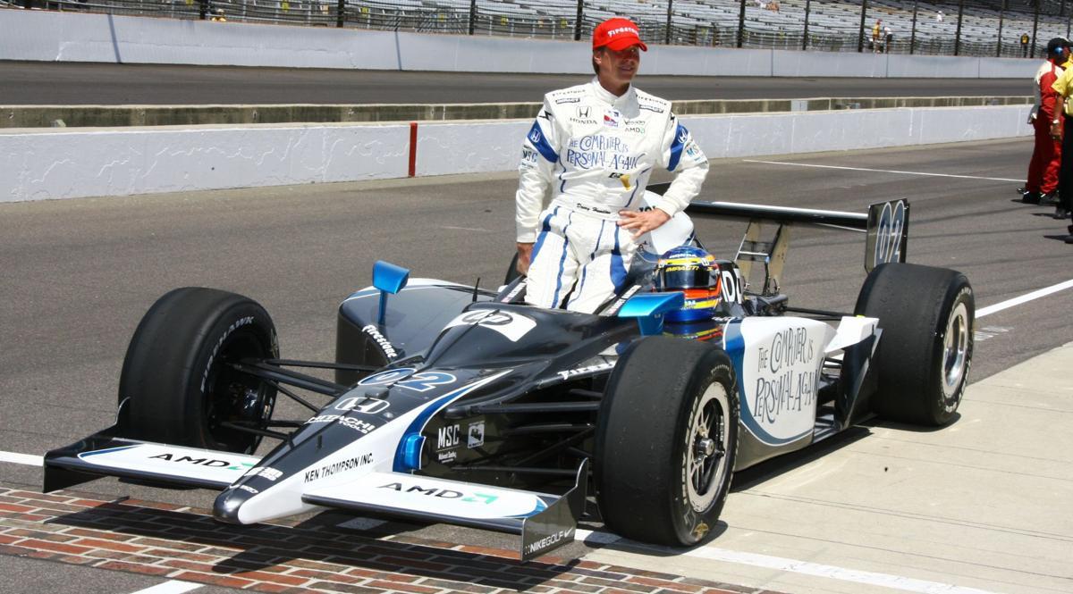 Davey Hamilton with car
