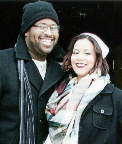 Michael Milliken Jr. and his fiancée, Diana Hinton