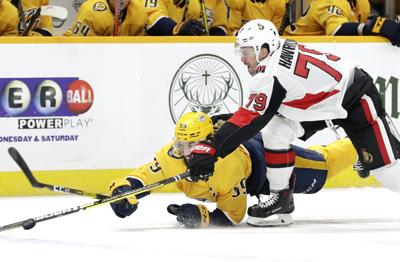 APTOPIX Senators Predators Hockey