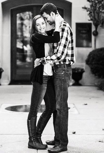 Larissa Morningstar and her fiancé, Lee Barton