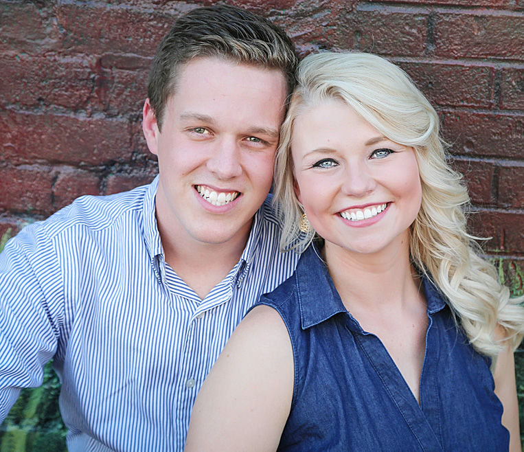 Andrew Bigham and his fiancée, Angela Survant