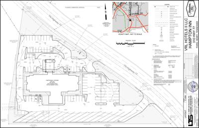 Hampton Inn site plan