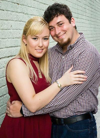 Alex Carney and her fiancé, Kyle Lewis