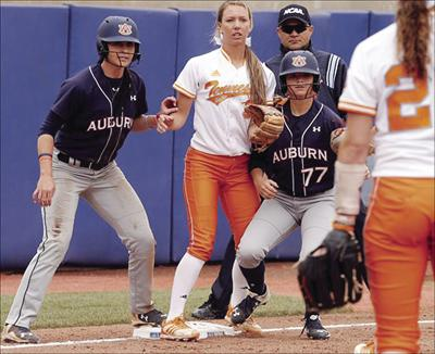CORRECTION WCWS Auburn Tennessee Softball