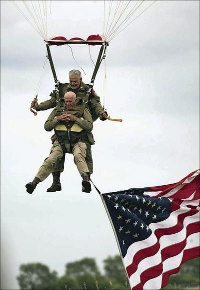 France D-Day Parachuting Over Normandy