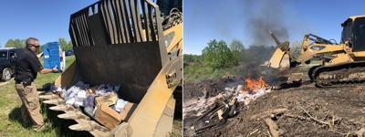 Drug burn at city landfill