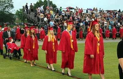 PARIS TN: No dampening this year's Henry County High School graduation