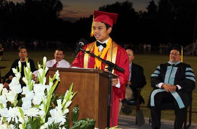 Nucum speaks to grads