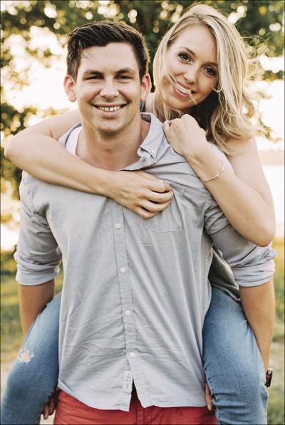 David Vaughn and his fiancee, Kara Jones