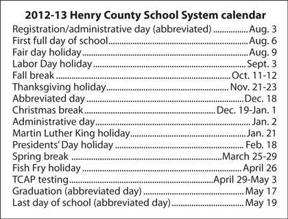 Henry County School Calendar.Paris Tn Henry County School Calendar Released Local News