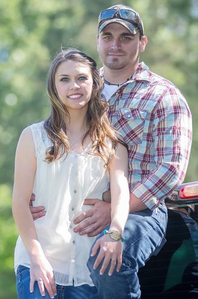 Sydney Hrachovina and her fiance Kody Rock