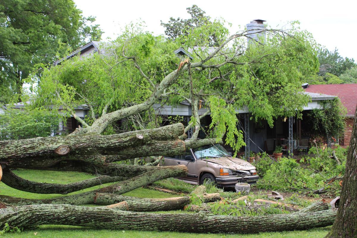Home damaged on Grove Boulevard
