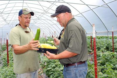 Fresh produce at the Sheriff's Department