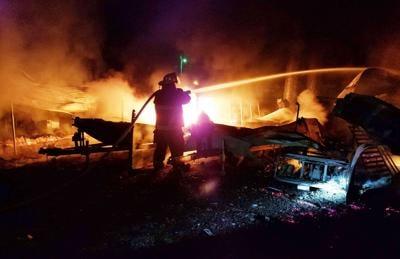 Battling Buchanan Resort blaze