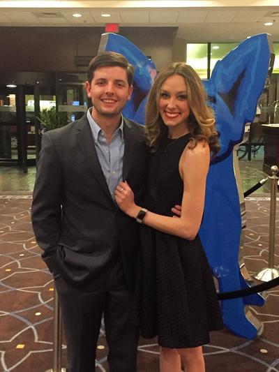 Alex Hartsell and his fiancée, Rebecca Keith
