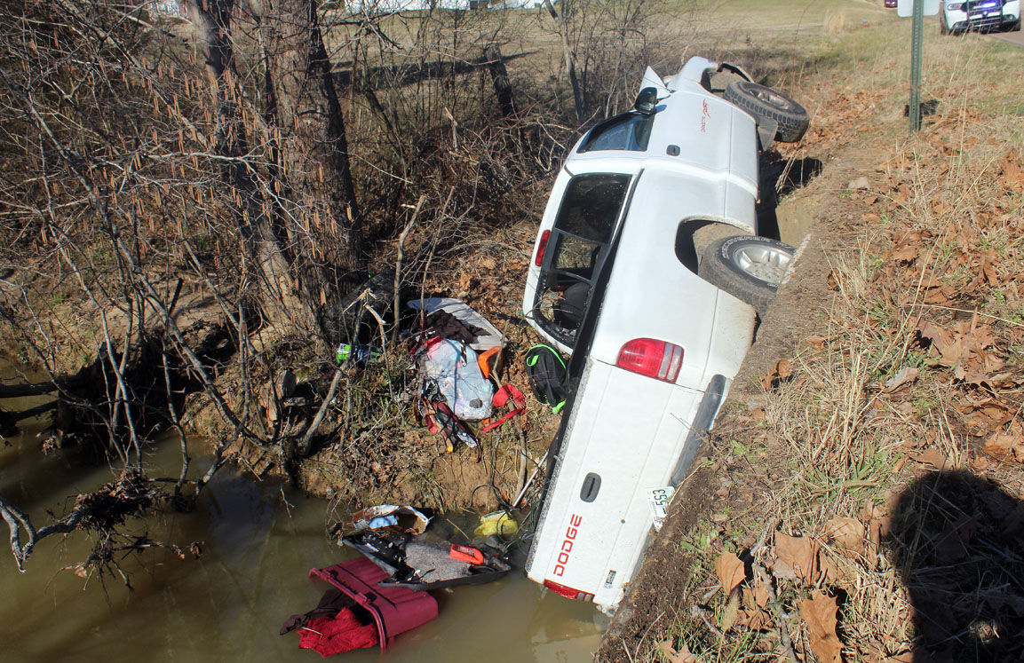 Two injured in single-vehicle wreck Wednesday
