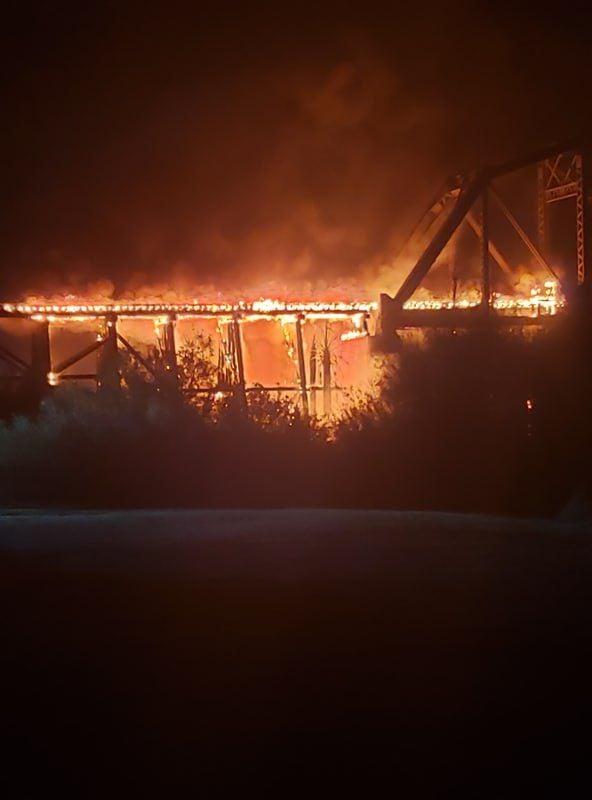 A & C Bridge burns