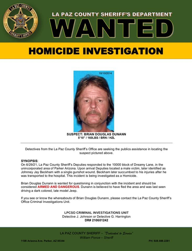 Dunann wanted poster