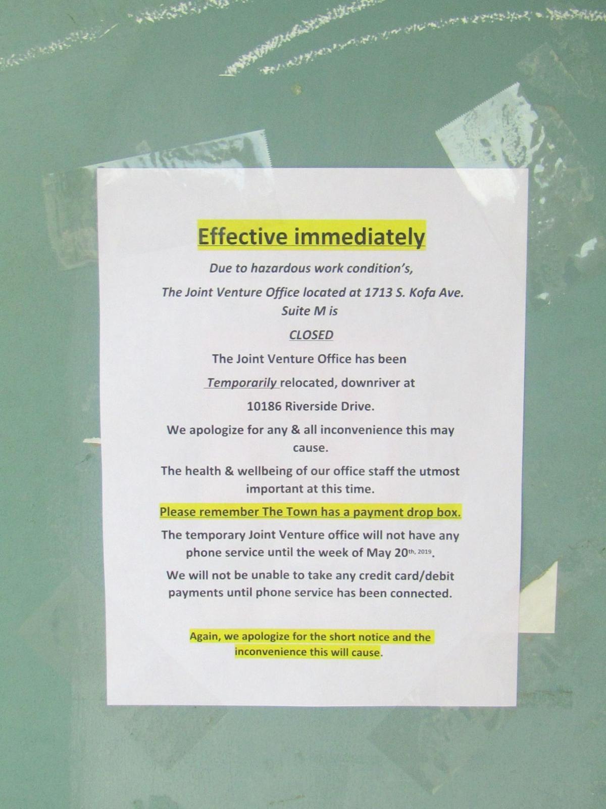 Joint Venture notice