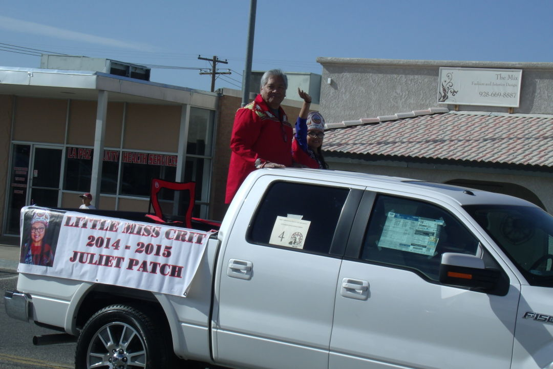 Tribal Chairman rides in parade