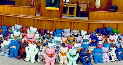 Stuffed bears comfort traumatized kids across globe