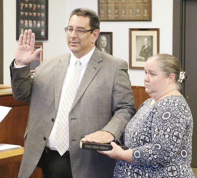 There's a new sheriff in town Jim Mullett sworn in as Garvin County's new sheriff