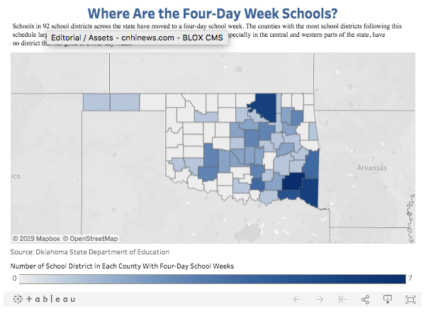 Where Are the Four-Day Week Schools?