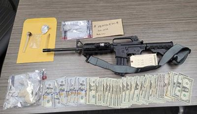 Drugs, rifle found in traffic stop