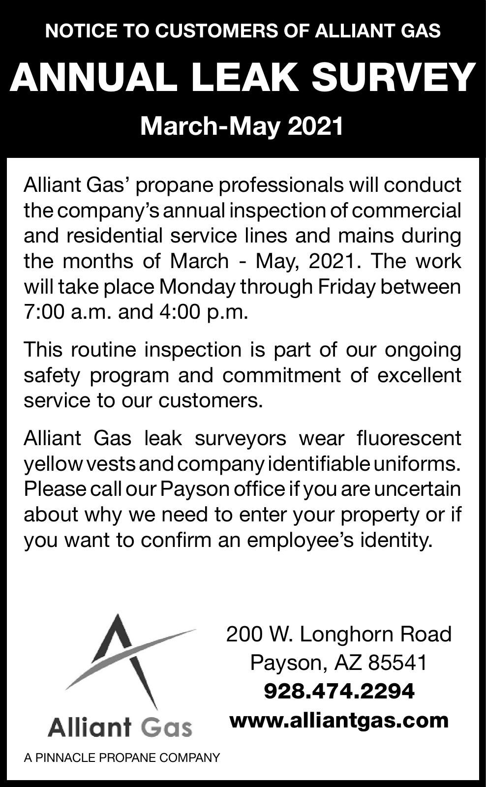 Alliant Gas Leak Survey