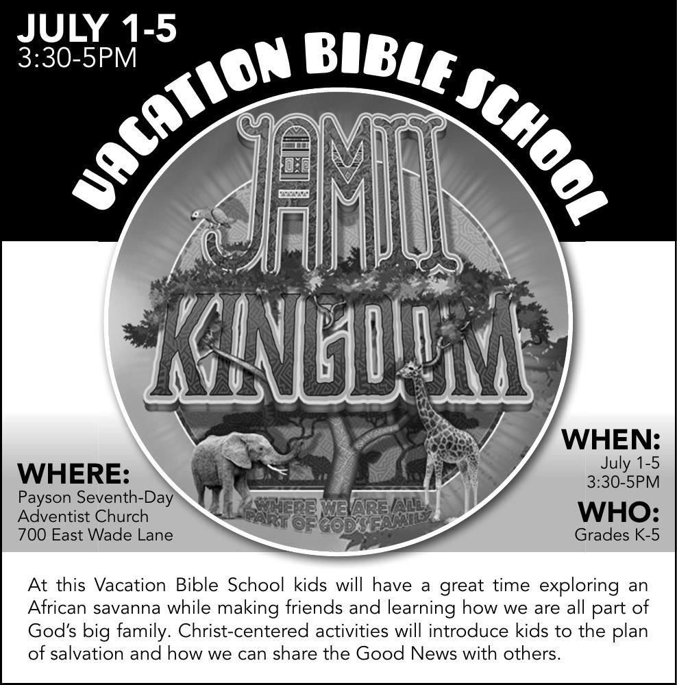 Vacation Bible School at 7th Day Adventist Church