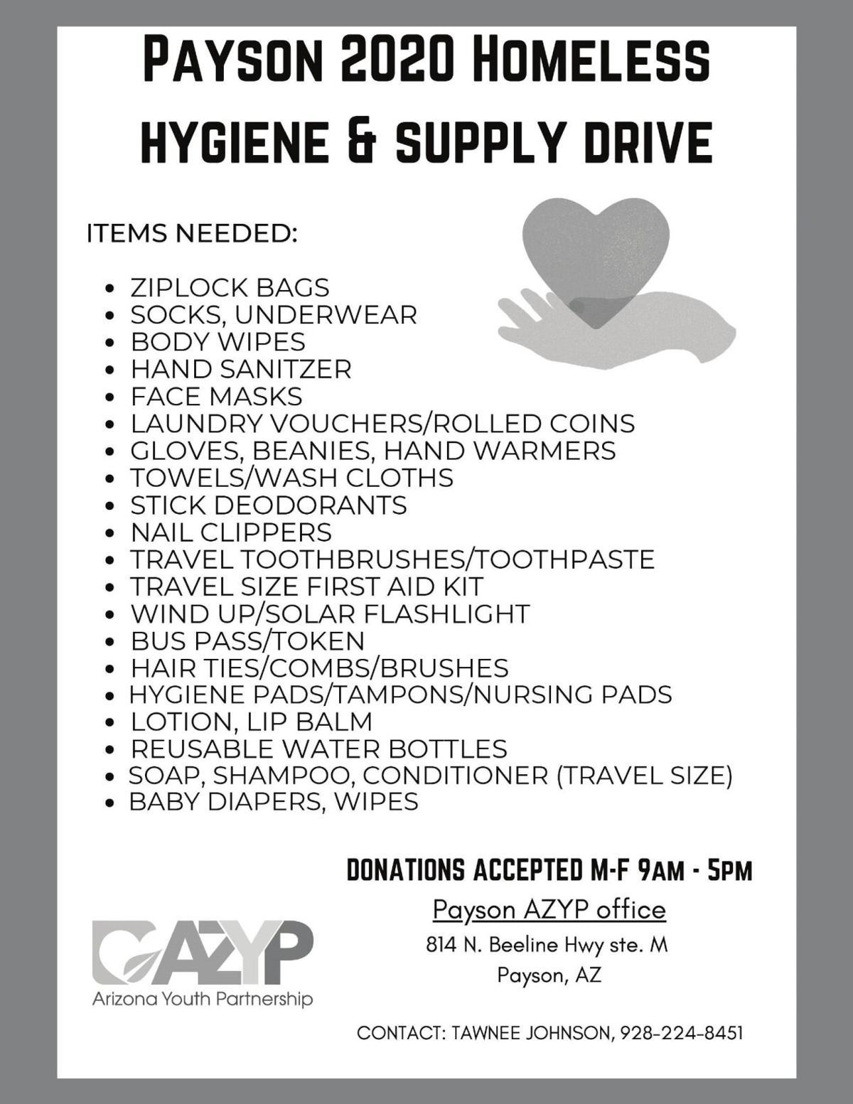 Homeless Hygiene & Supply Drive
