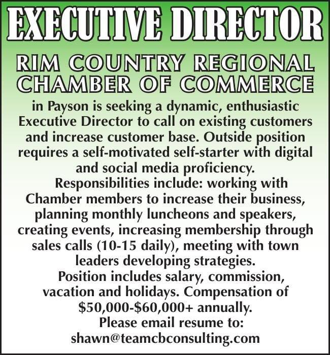 Chamber of Commerce seeking Executive Director